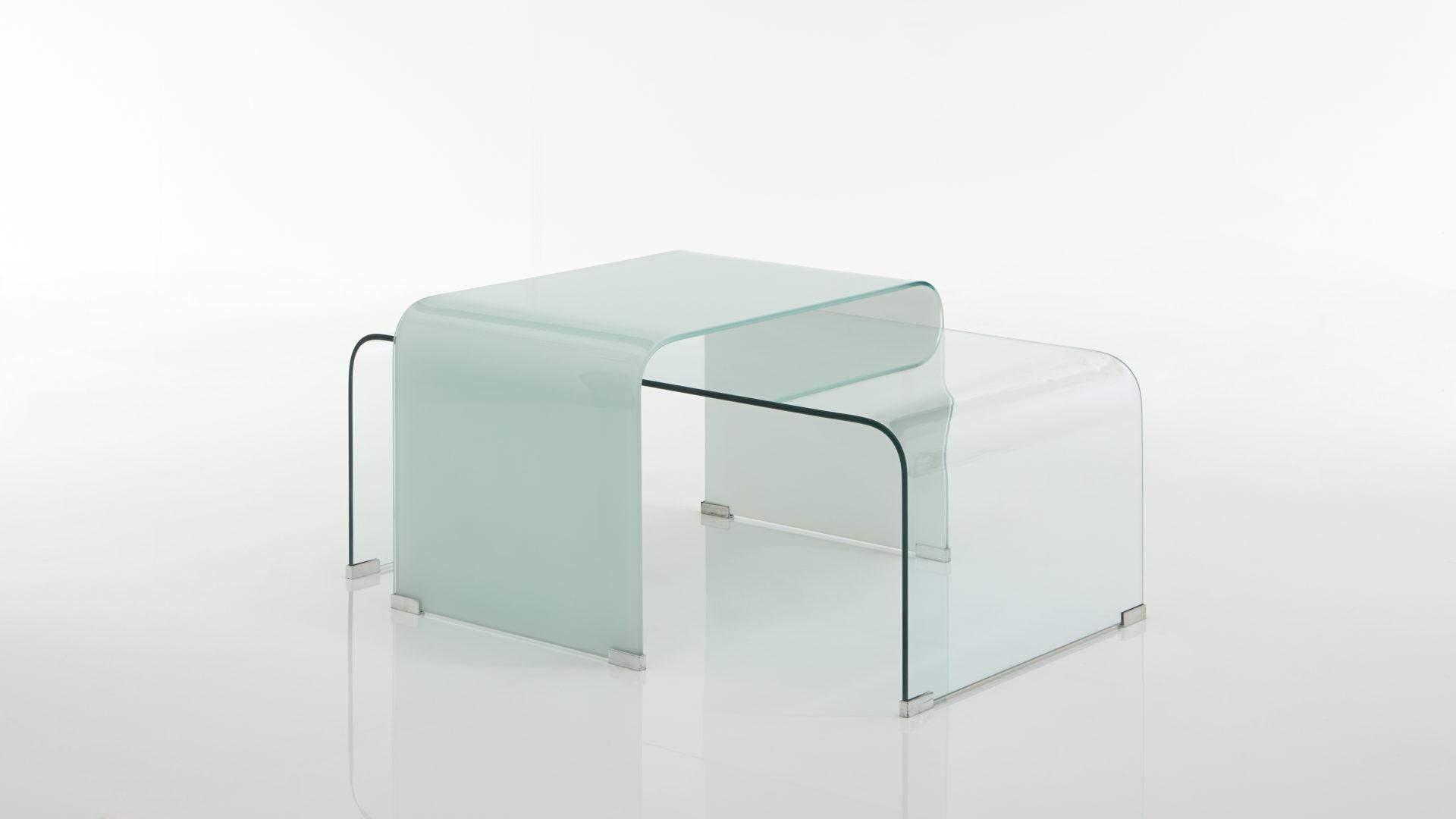 Couchtisch Set Als Praktische Wohnzimmertische Klar Milchglas