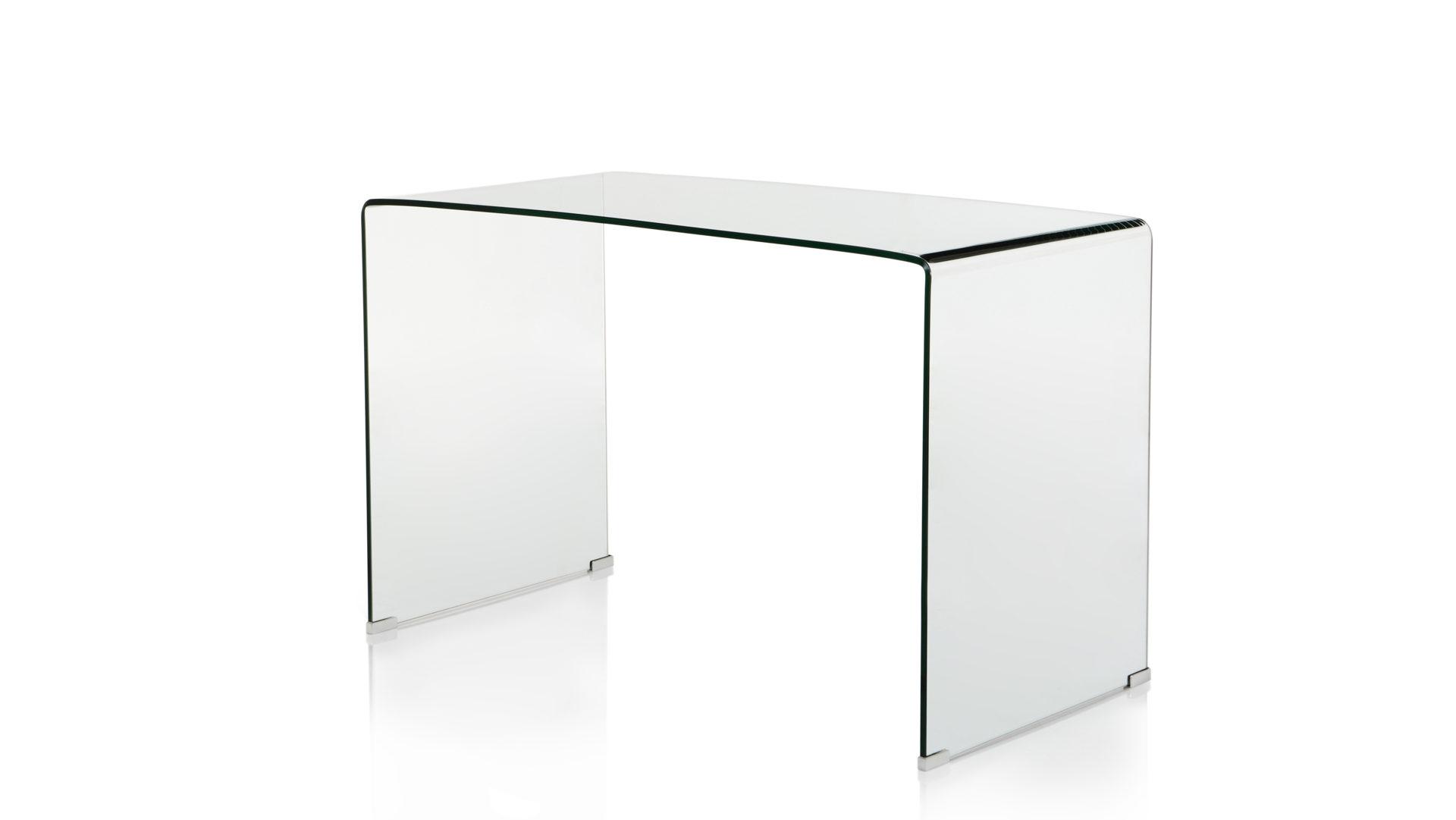Schreibtisch aus Glas als hochwertiges Büromöbel, Klarglas – ca. 120 ...