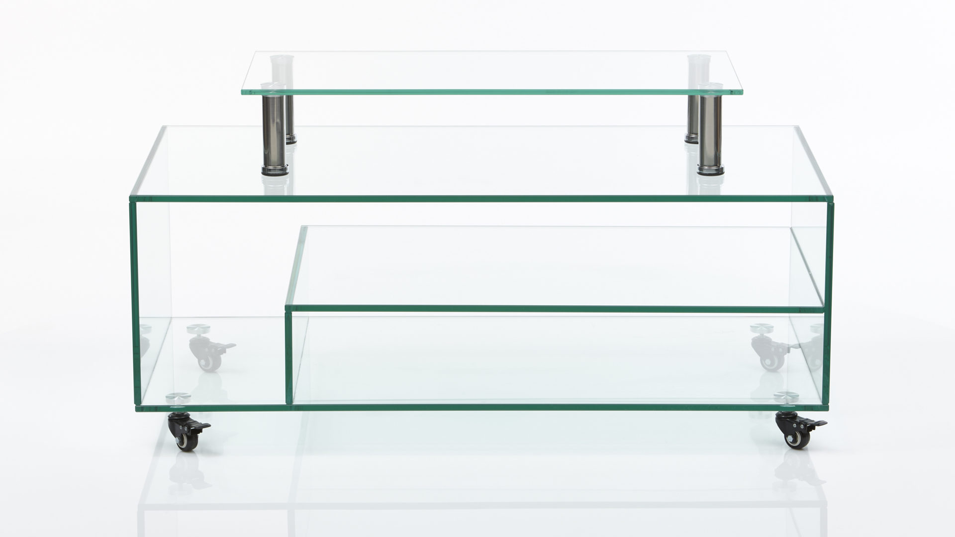 Medienmöbel Aus Klarglas Als Tv Möbel Klarglas Ca 110 X 60 X 40