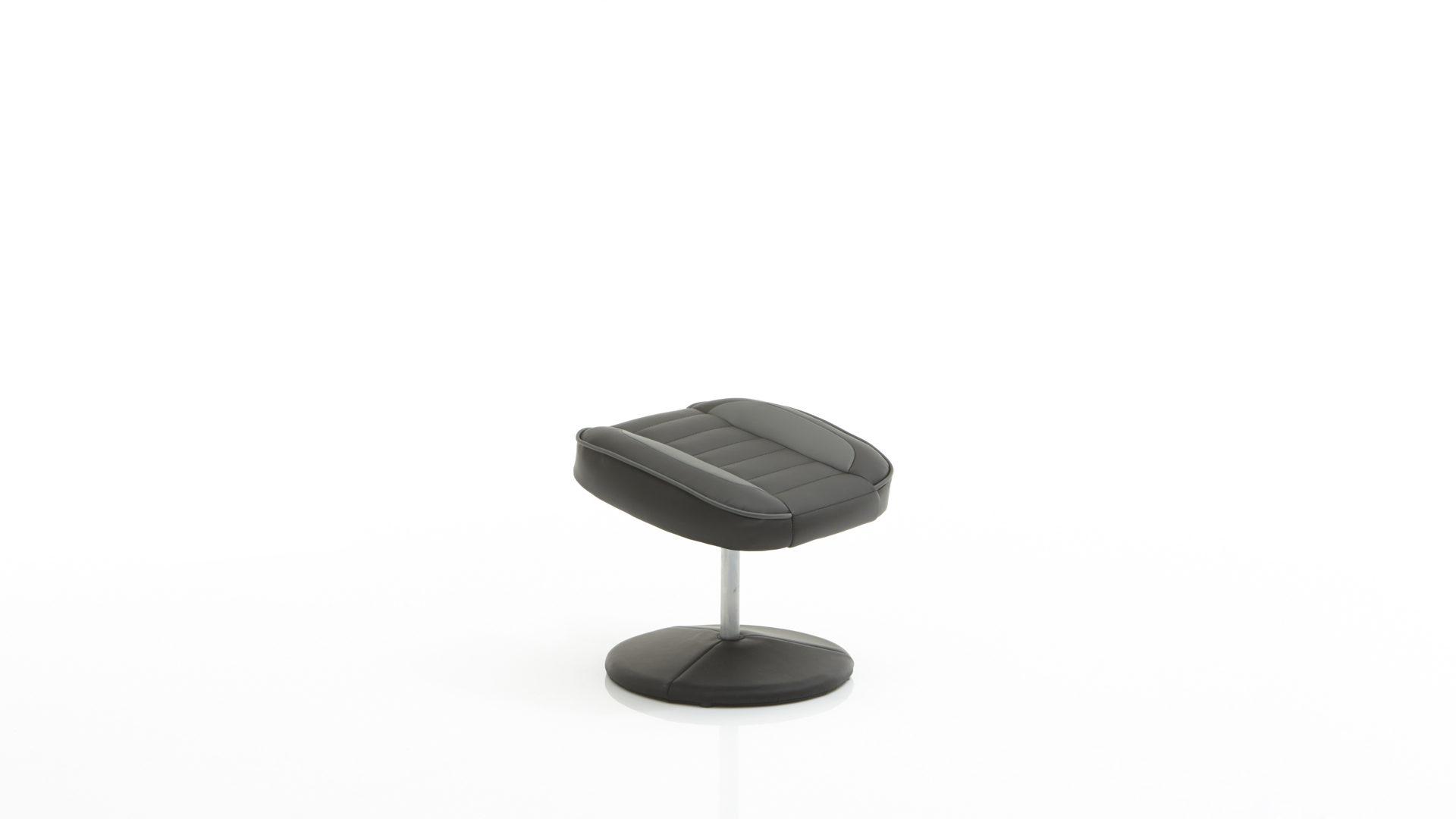 Relaxsessel mit Hocker als Polstermöbel mit Sitzkomfort, schwarzes ...