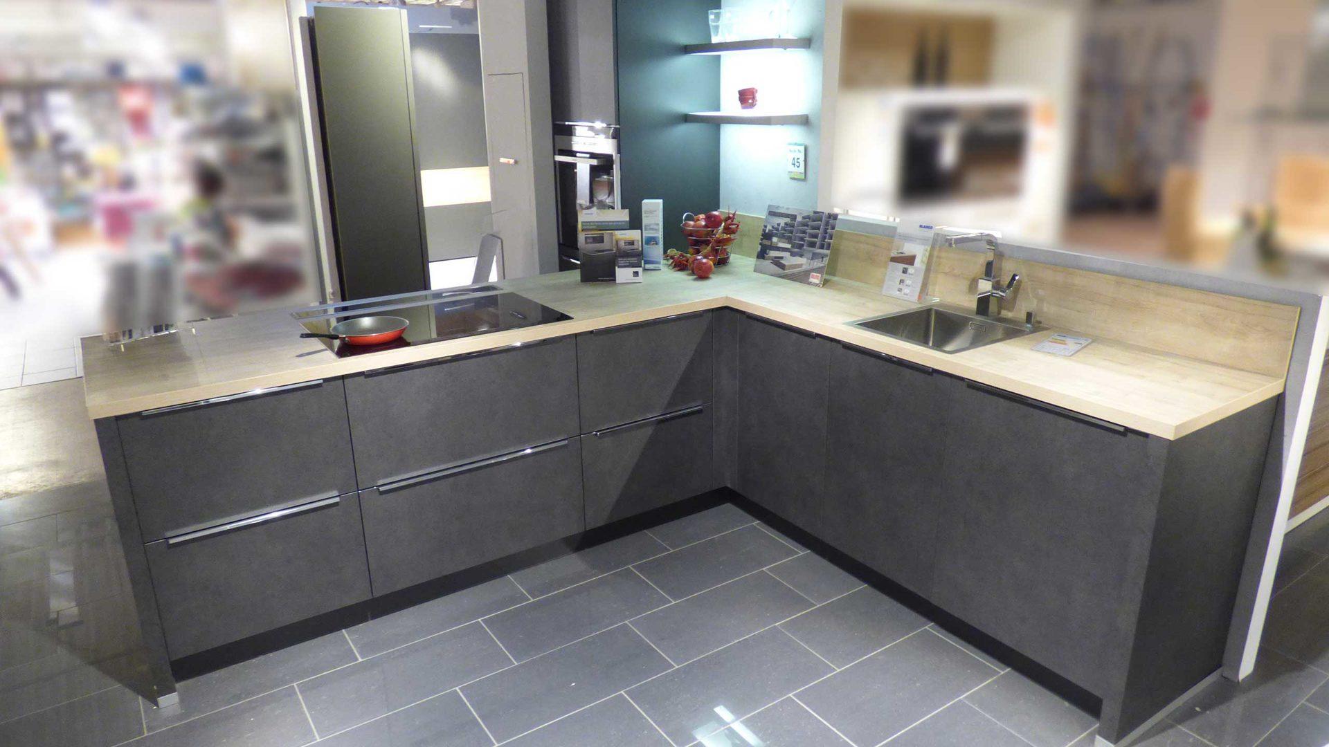 ALNO Küche Einbauküche ALNODUR inkl. Siemens E-Geräte und TOP ...