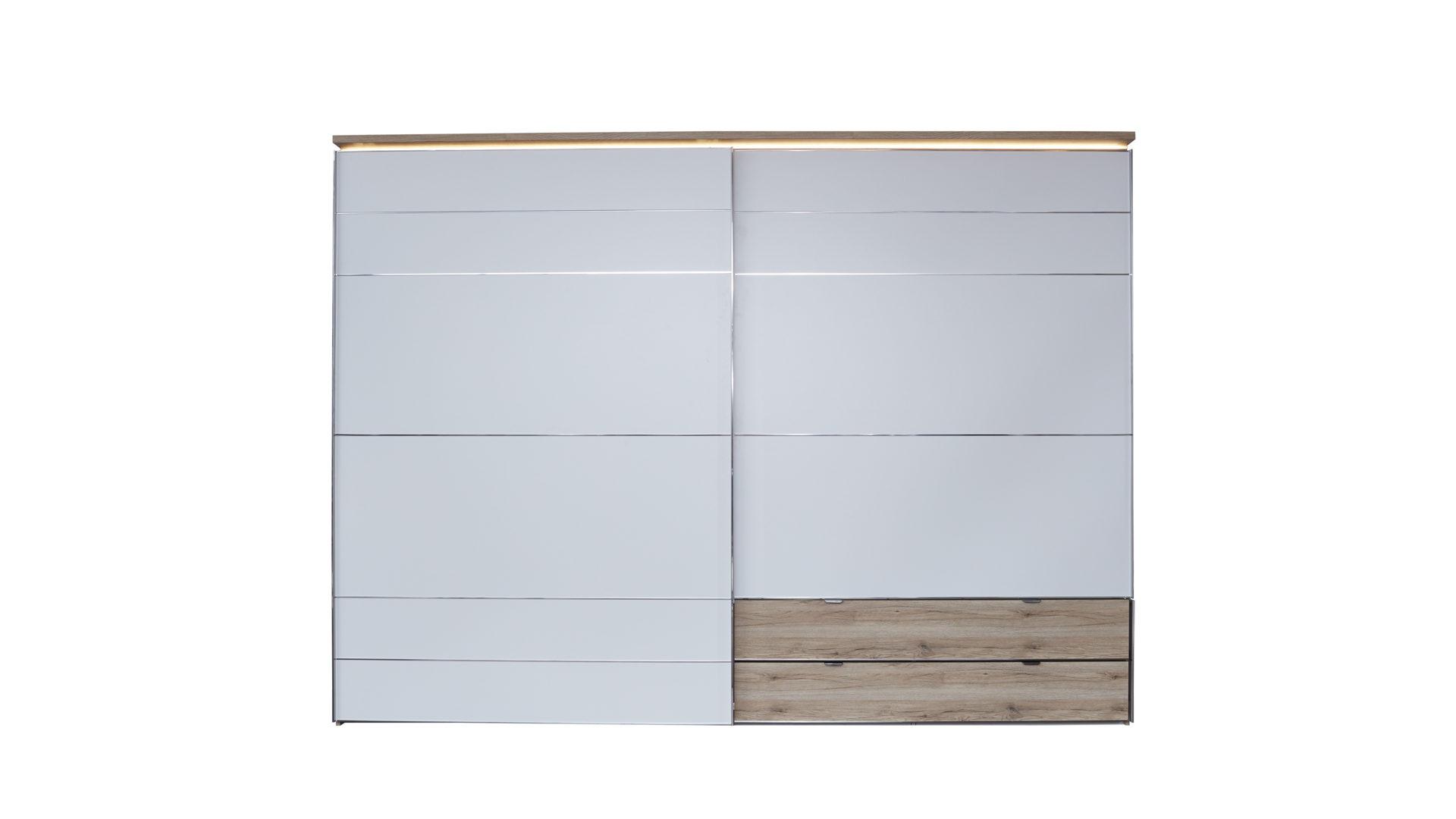 Interliving Kleiderschrank Serie 1201 Schwebetürenschrank Weiße