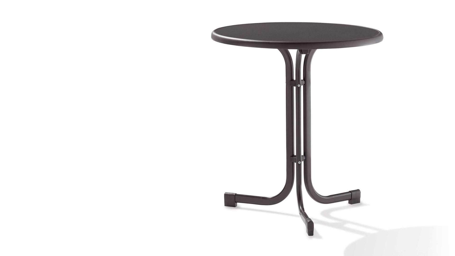 Gartentisch Sieger In Anthrazit Grau Sieger Klapptisch Gartentisch  Tischplatte Mecalit D.: 70 Cm Gestell