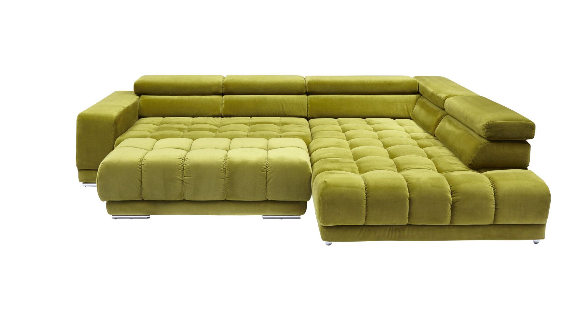Lounge-Eckkombination bzw. Polstermöbel, moosgrüner Bezug Salsa ...