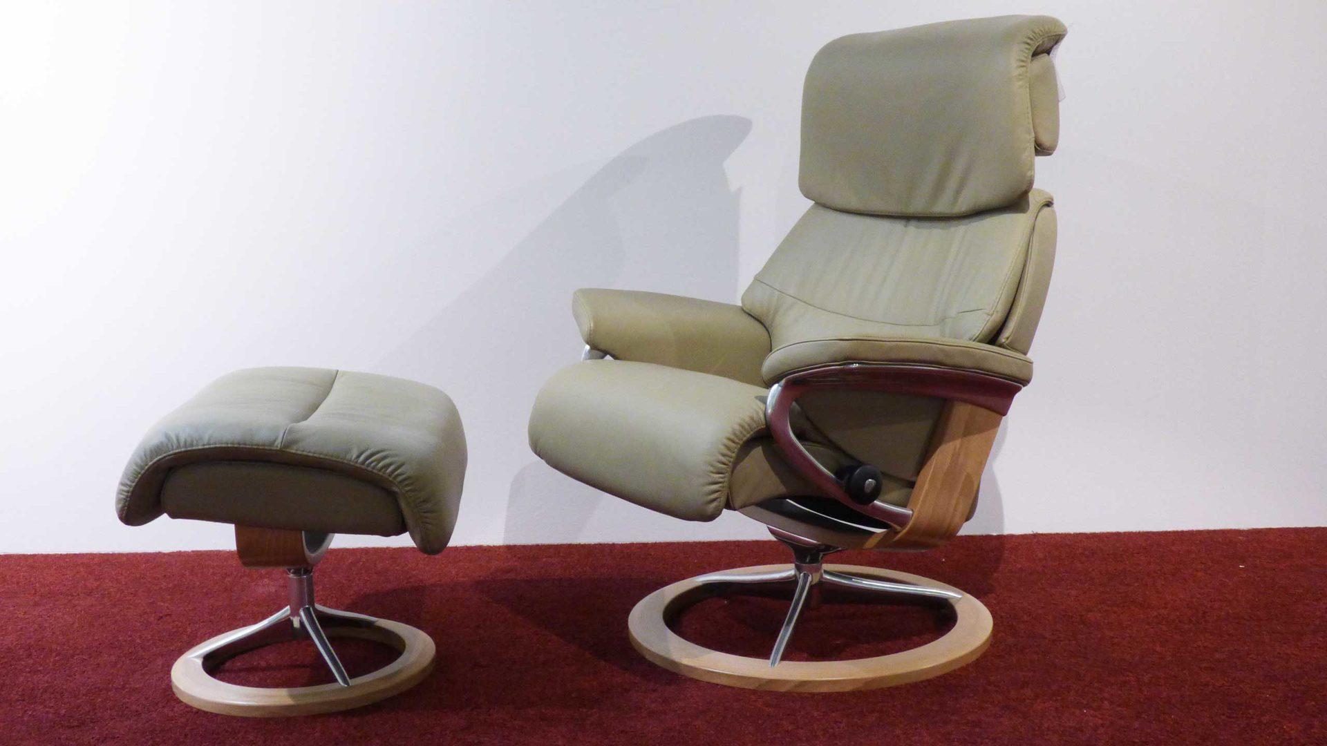 Stressless Relaxsessel CAPRI Gr. S Leder + Hocker, 1309 315 Leder ...