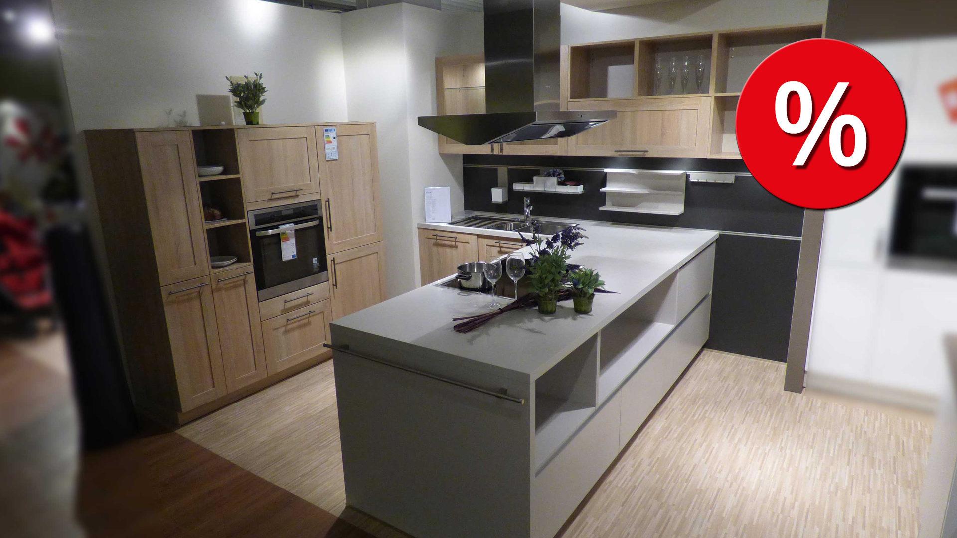 Schüller Küche Einbauküche COUNTRY inkl. AEG E-Geräte und reichlich ...