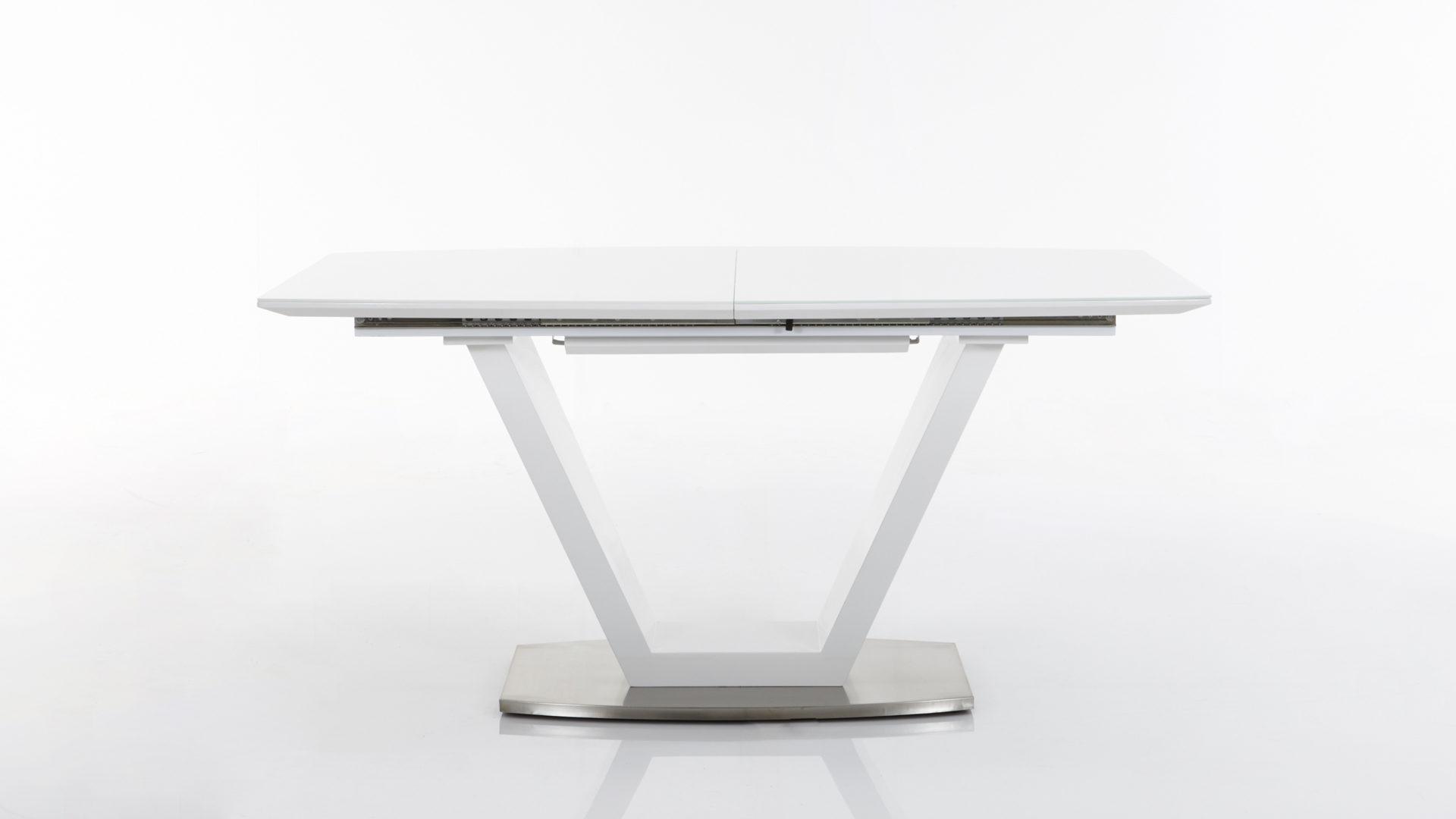 Auszugtisch Mca Furniture Aus Holz In Weiß Ausziehtisch Bzw. Ausziehbarer  Esstisch Hochglanz Weiß U2013 Ca
