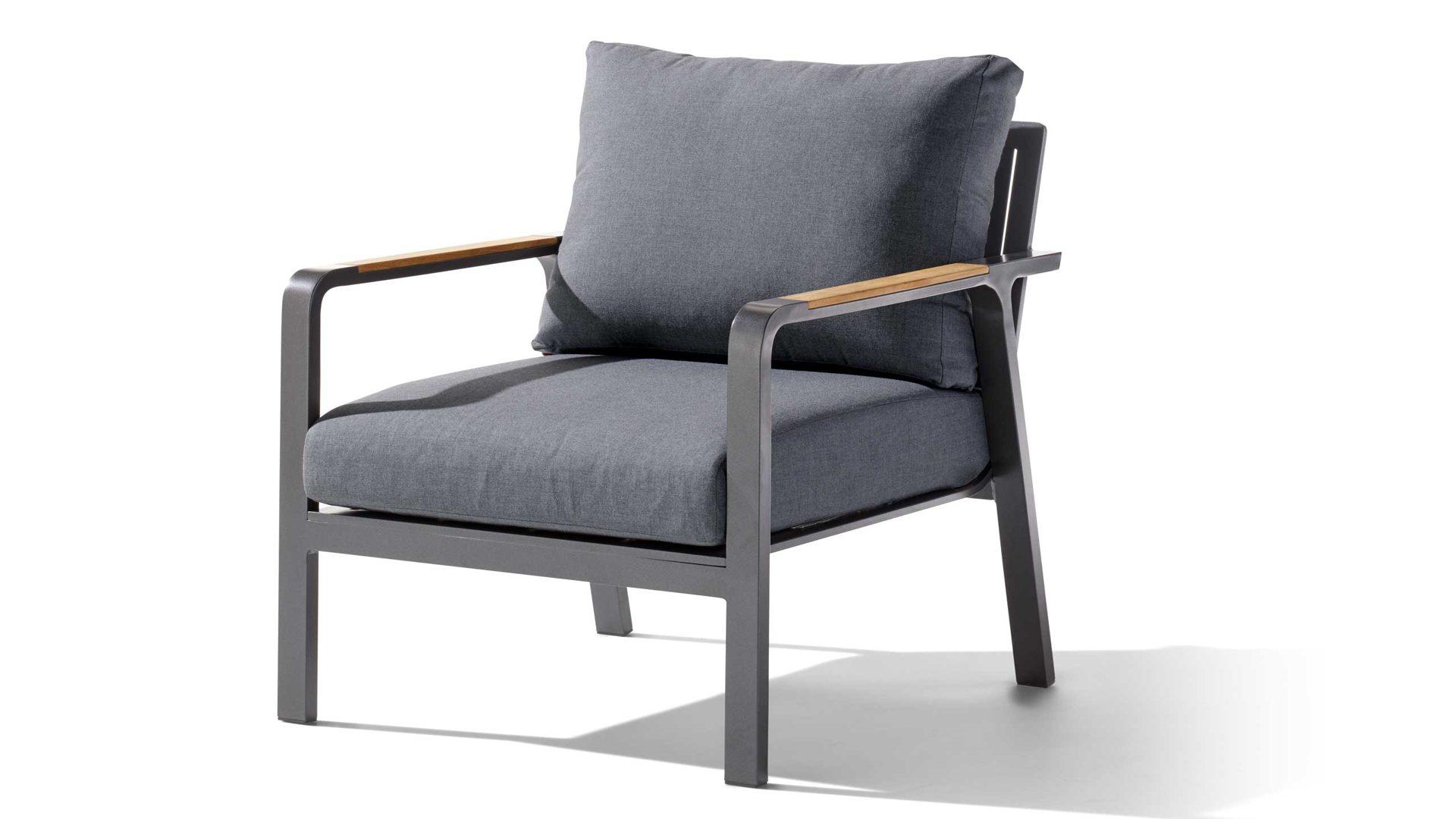 Loungemöbel Sieger In Grau Anthrazit Sieger Exclusiv Sessel 1 Sitzer Nassau  431 G G Gestell Aluminium
