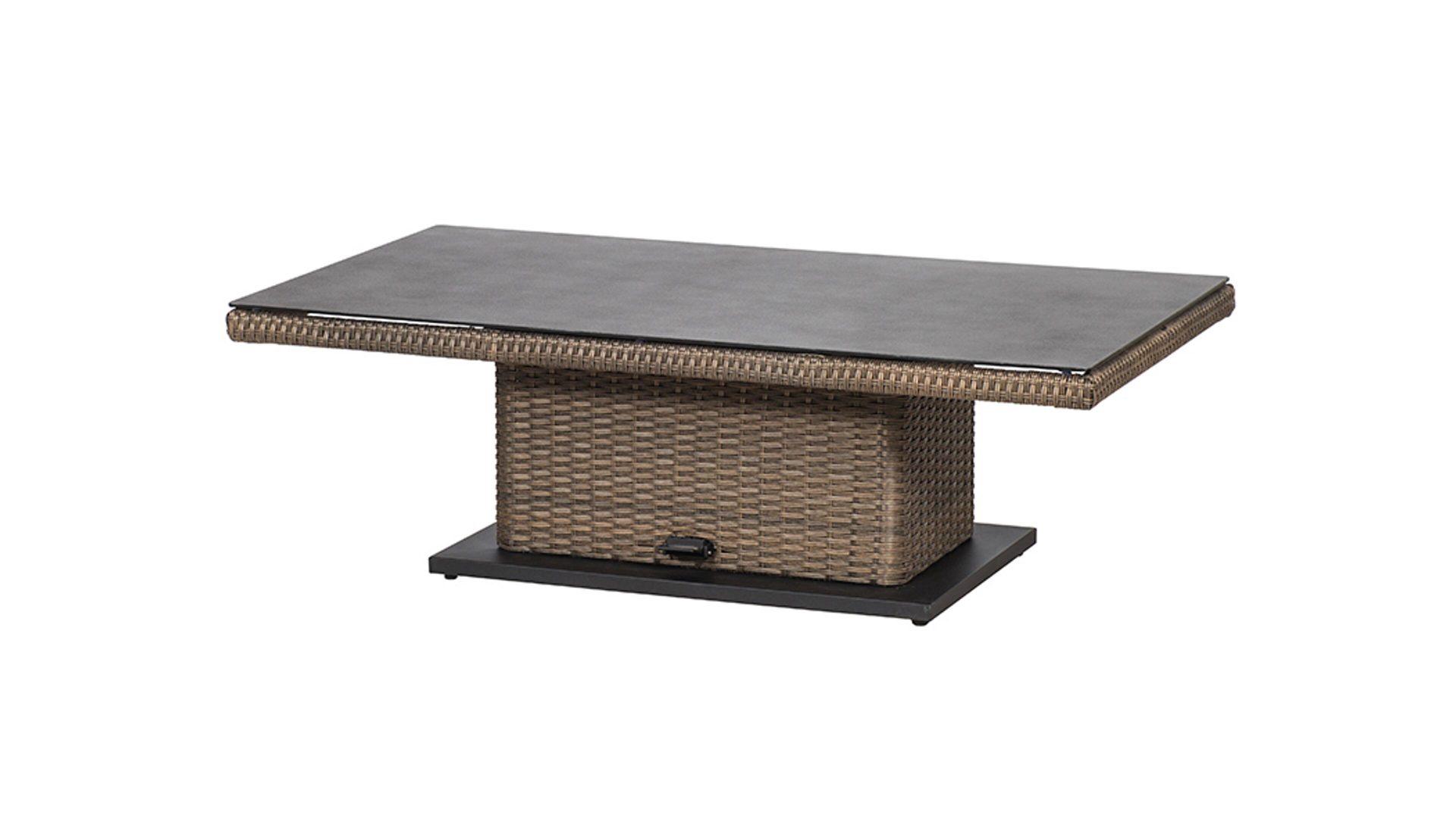 Siena Garden Lift Tisch Teramo Bronzefarbenes Geflecht