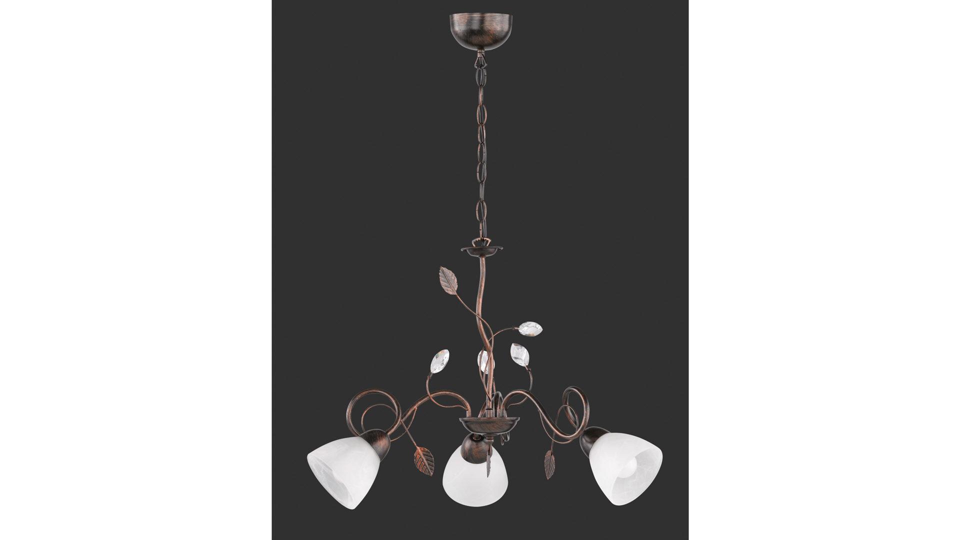 Kleine Lampenschirme Für Kronleuchter ~ Kronleuchter antik rostfarbenes metall u2013 drei lampenschirme bad
