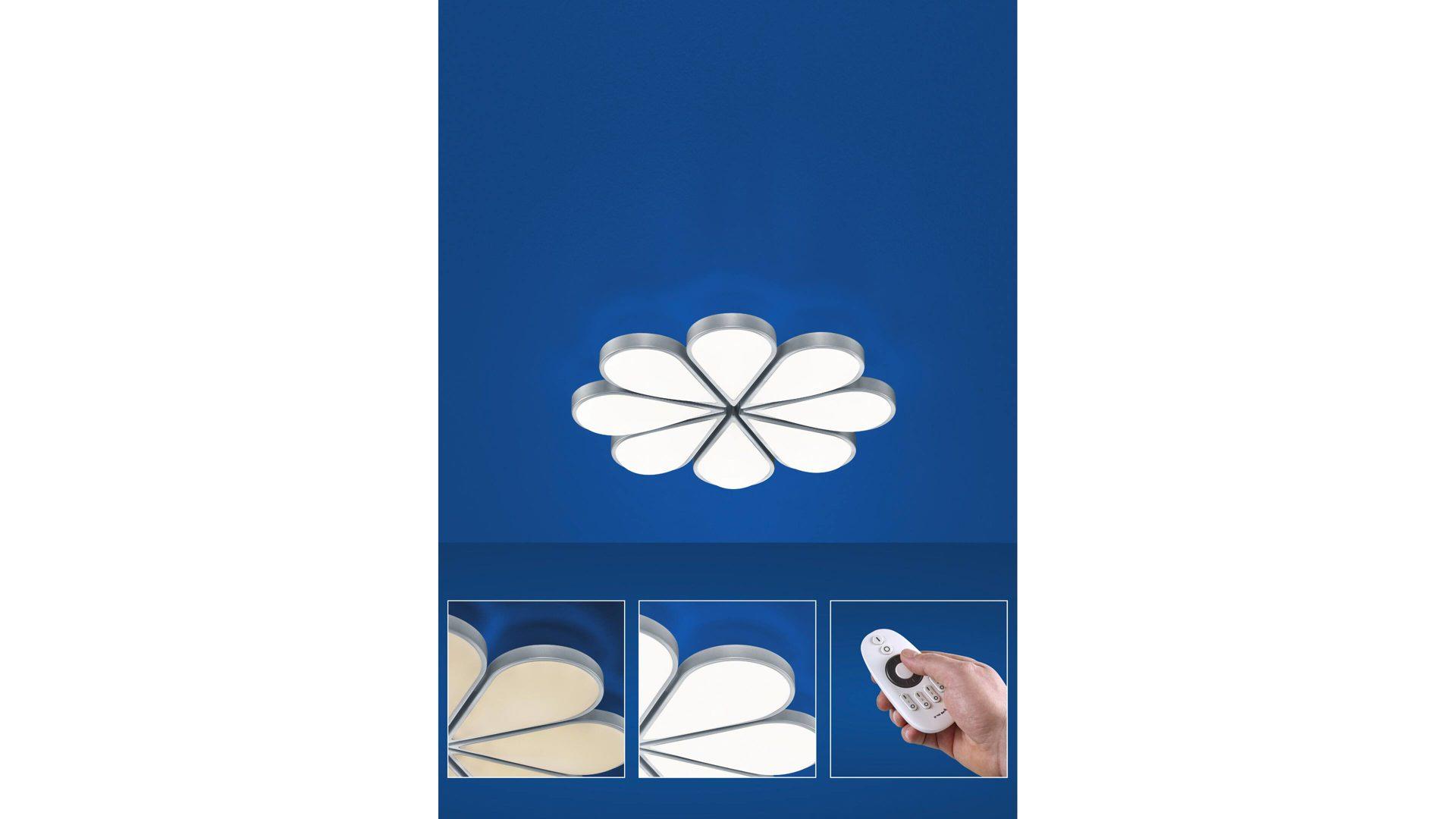 B LEUCHTEN LED Deckenleuchte Flower, Nickel Matt U2013 Durchmesser Ca. 61 Cm,  Bad Homburg Bei Frankfurt