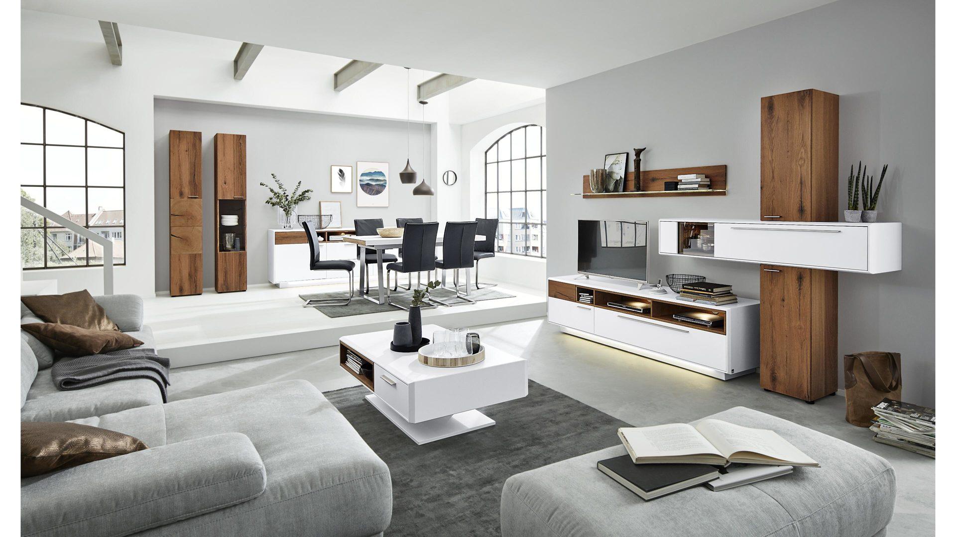 amazing interliving wohnzimmer serie dunkles weier with wohnwand weiss und dunkles holz