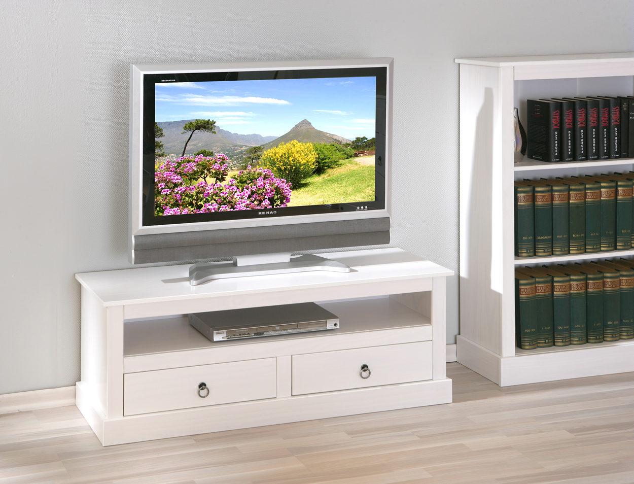 Tv Schrank Provence Ein Praktisches Tv Mobel Weiss Lackiertes