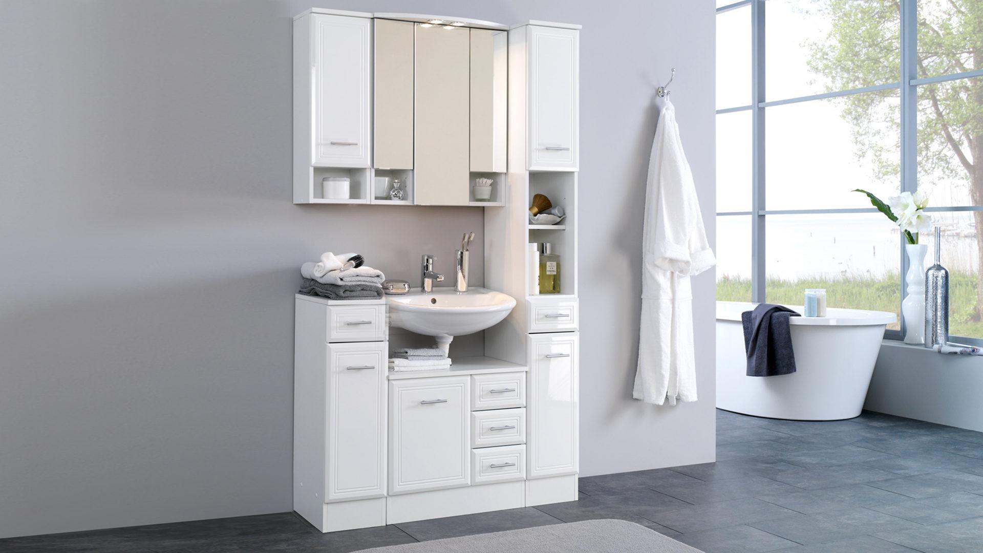 Badschrank bzw. Seitenschrank Neapel als Badezimmermöbel