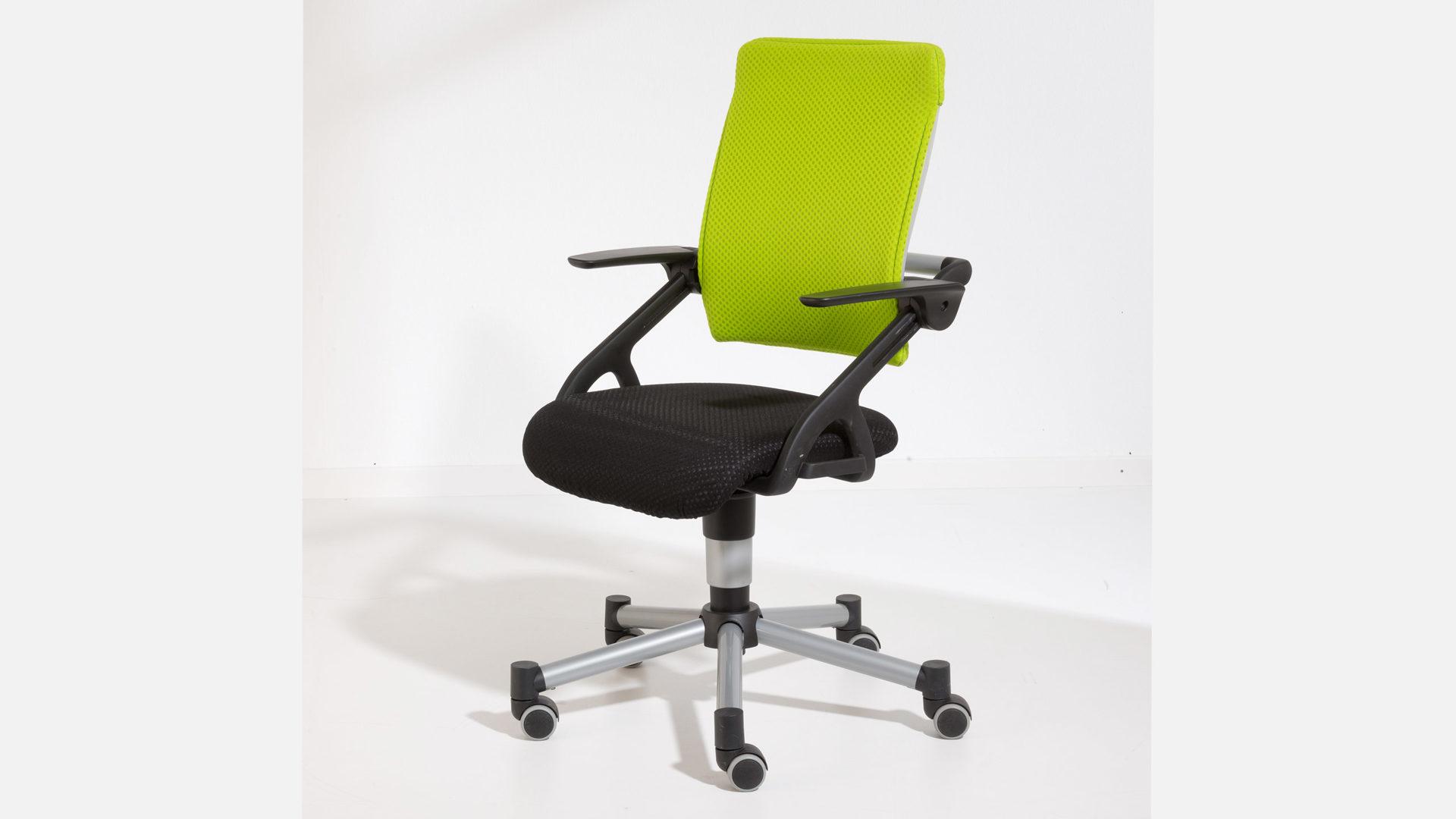 Paidi Schreibtischstuhl Drehstuhl Tio Schwarz Limette Bad