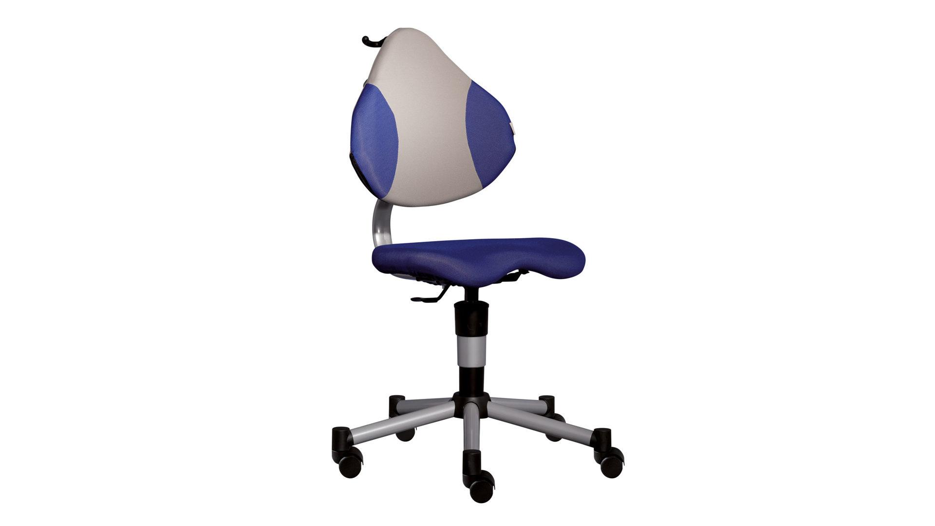PAIDI Kinder-Schreibtischstuhl Drehstuhl PEDRO blau-grau, Netzbezug ...