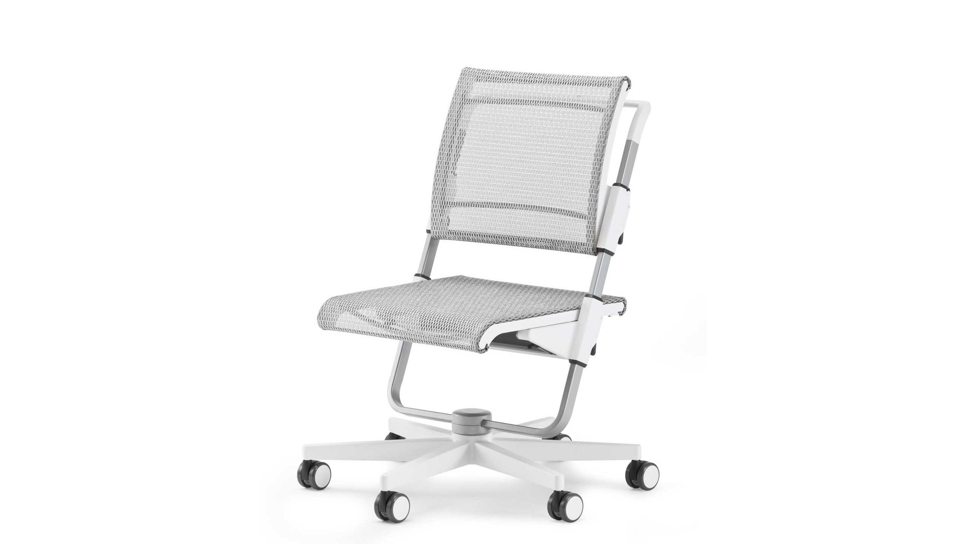 Moll Drehstuhl Schreibtischstuhl Scooter Netzstoff Silber Gestell