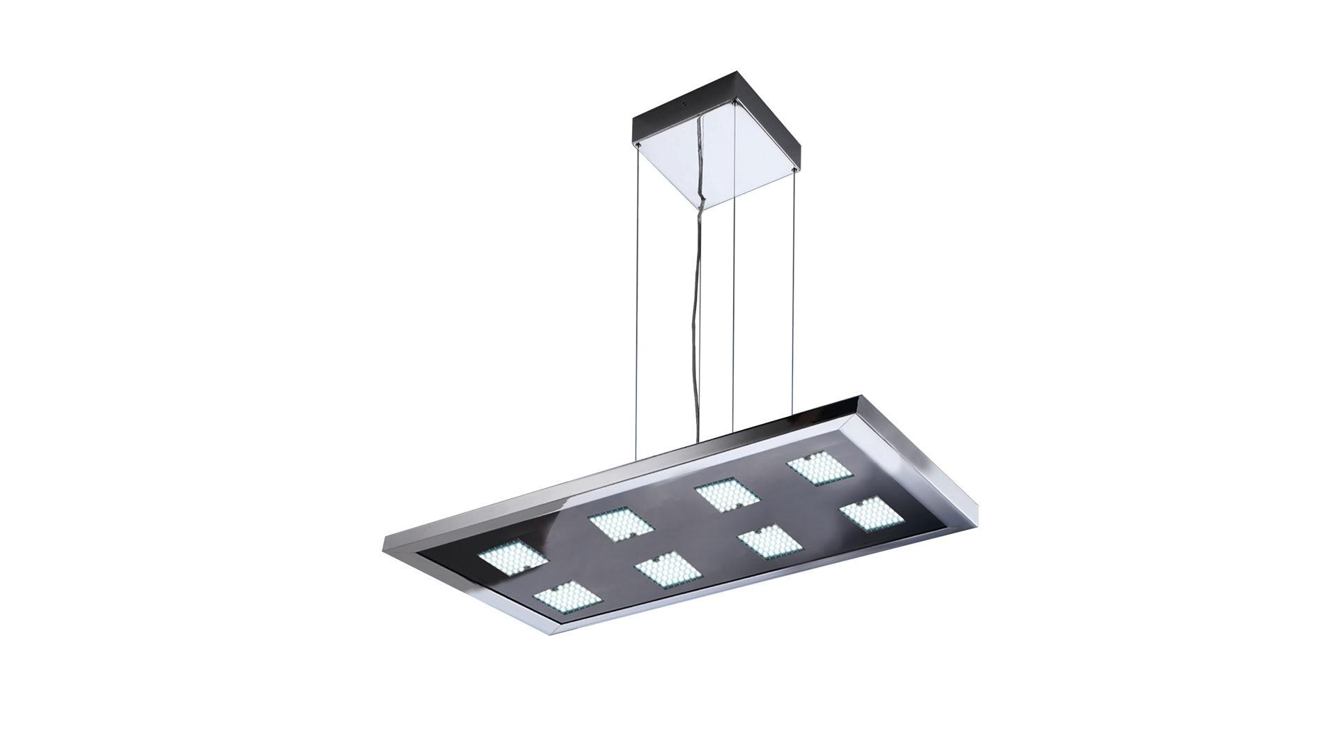 EVOTEC LED Pendelleuchte, Aluminium U0026 Nickel Gebürstet, Schwarzes Glas    Ca., Bad Homburg Bei Frankfurt