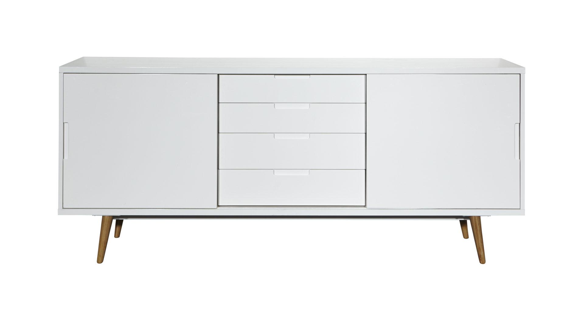 Sideboard Im Retro Stil Als Wohnzimmermobel Weisse