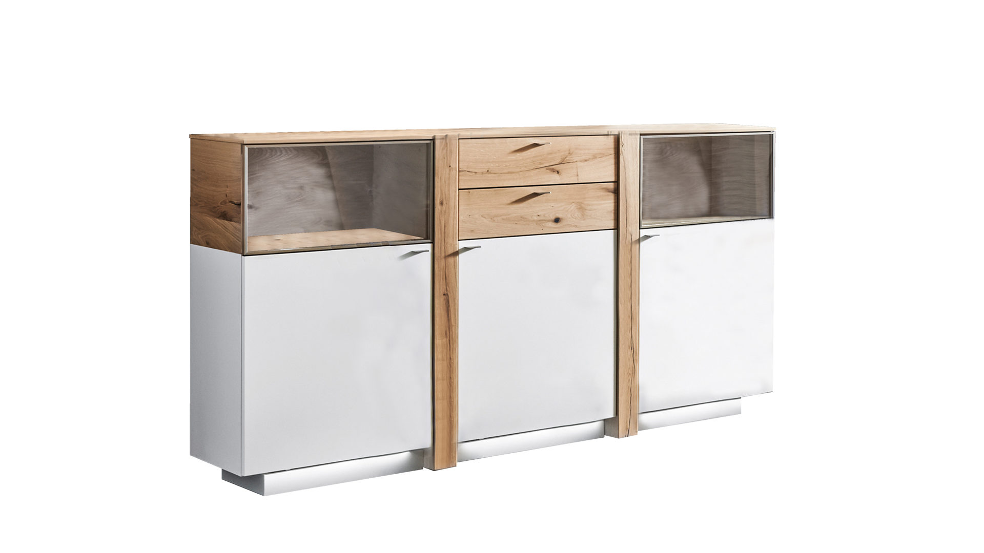 Sideboard Albero Als Wohnzimmermobel Mattweisse Lackoberflachen