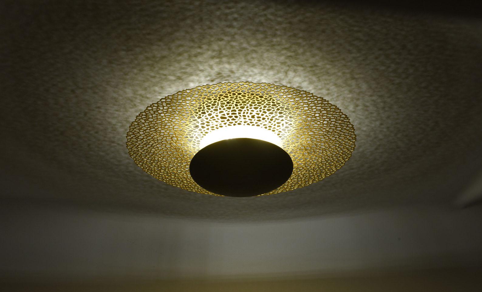 Ongebruikt Paul Neuhaus LED-Deckenleuchte Nevis, rost- & goldfarbenes Metall XO-45