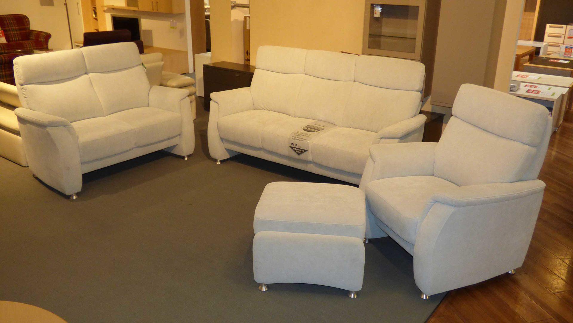 Sofa Arco Aus Stoff In Hellgrau Orthosedis Polstergarnitur 3600 Garnitur 3 2 1 Mit